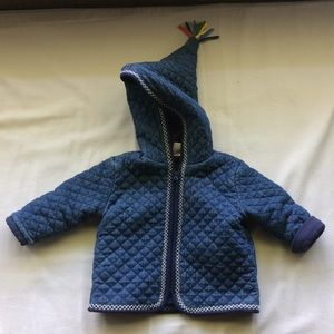 Hanna Andersson hooded jacket in quilted denim